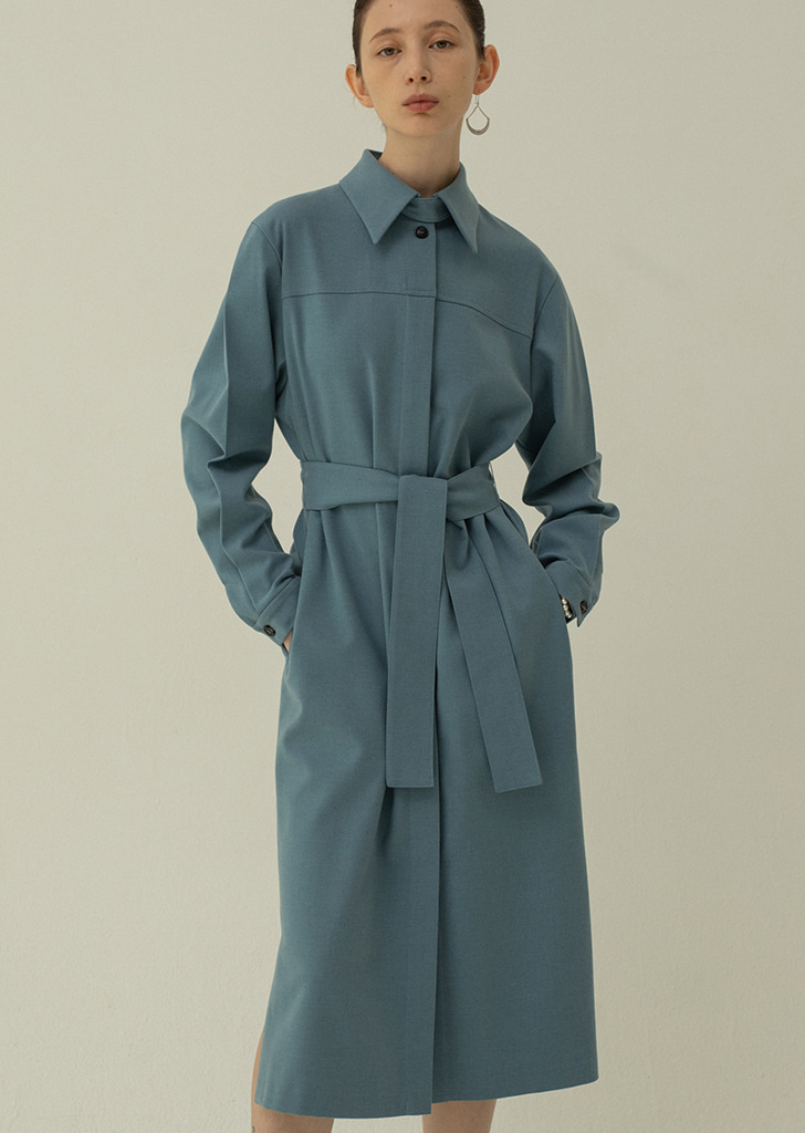 Trench Dress - Blue