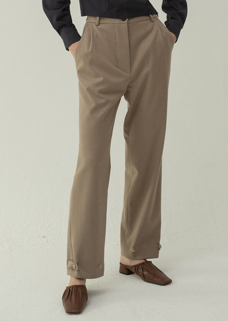 2ways Button Trousers - Beige