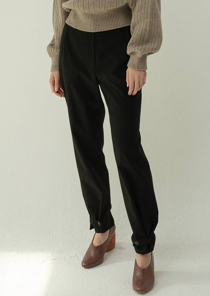 2ways Button Trousers - Black