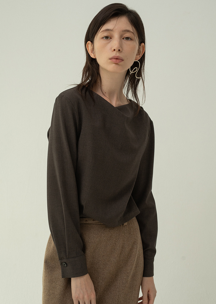 Draped Blouse - Khakibrown