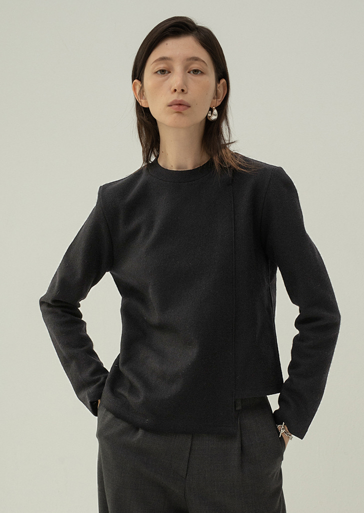 Two Buttons Top - Black
