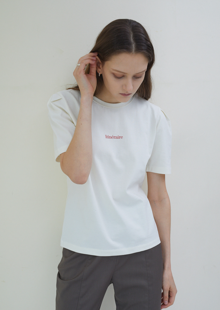 Volume Tuck T Shirts  - Light Lemon
