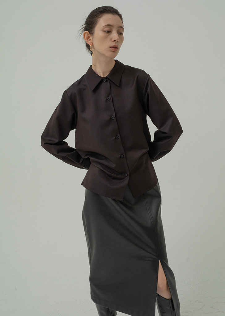 Silk Darkbrown Blouse