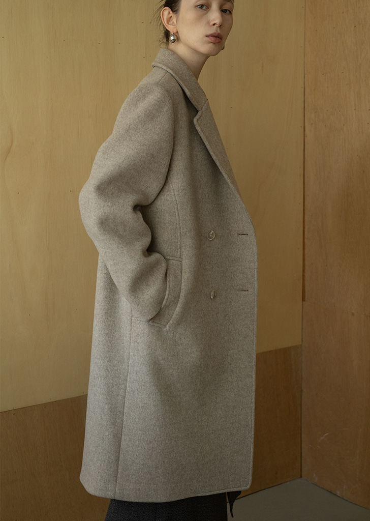 Structure Double Coat - Beige