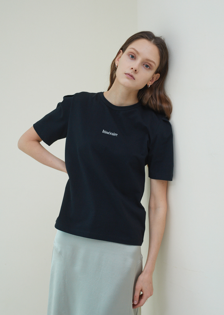 Volume Tuck T Shirts  - Black